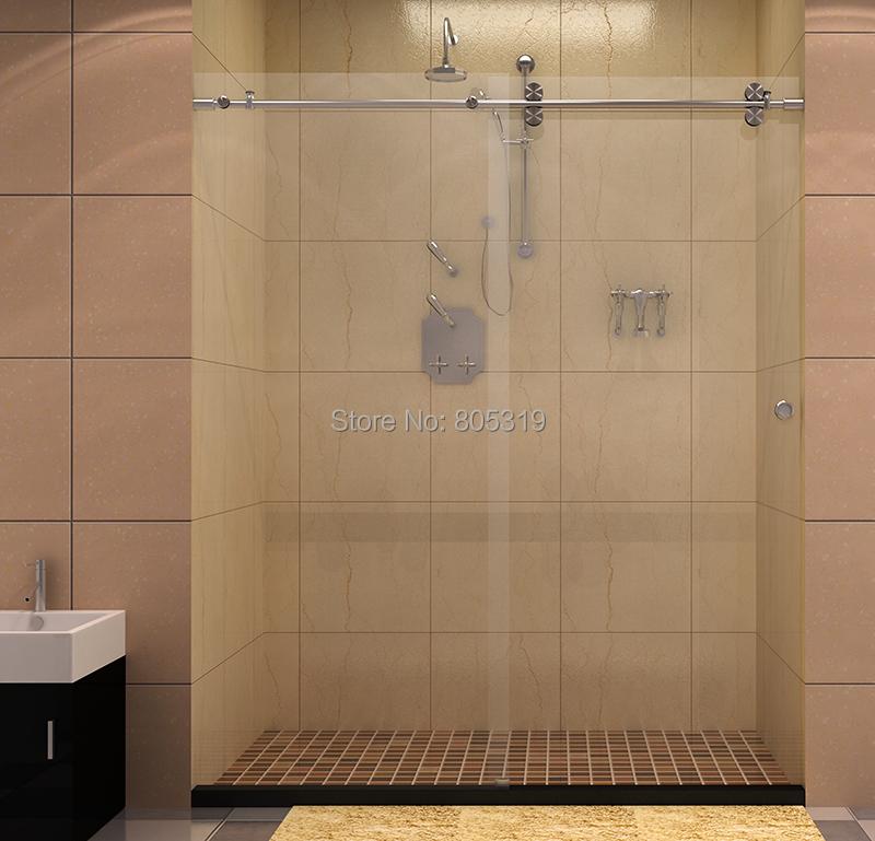 Brushed finished stainless steel shower door hardware,Sliding hardware for frameless shower partition door Дом и Сад