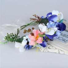 2016 New Festival Women Headband Kids Party Garlands Handmade Flower Crown Rose Boho girl Flower Wreath Wedding Hair Accessories