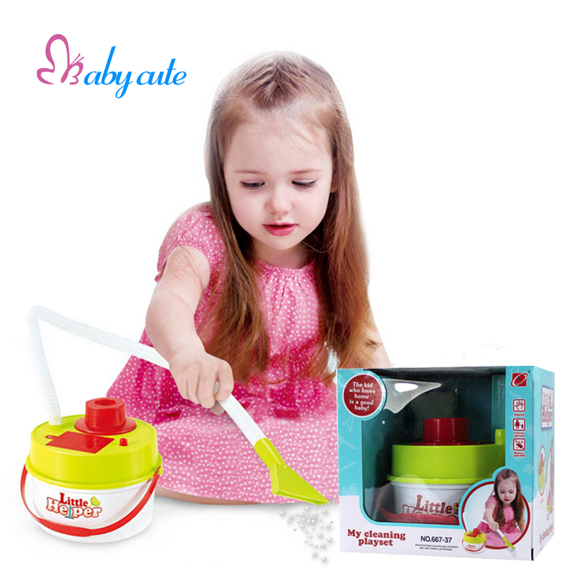 Kids Pretend Play Vacuum Cleaner Simulation House Cleaning Tool Kit Baby Early Educational Toys Interactive Jouet Best Birthday(China (Mainland))