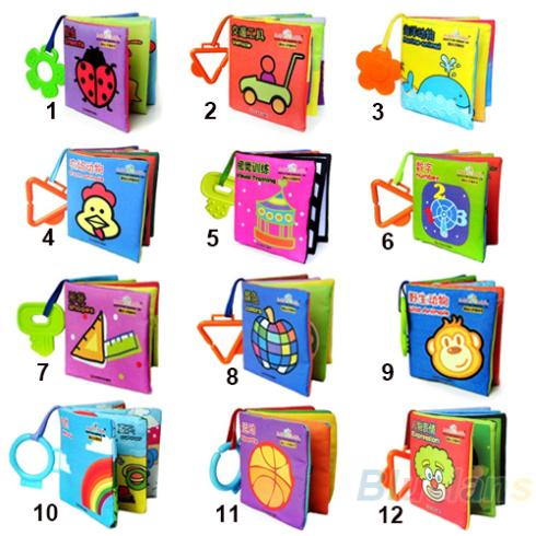 Baby Kid Girl Boy Child intelligence Educational development Cloth Book Cognize Soft Book Funny Toy   1FZE(China (Mainland))