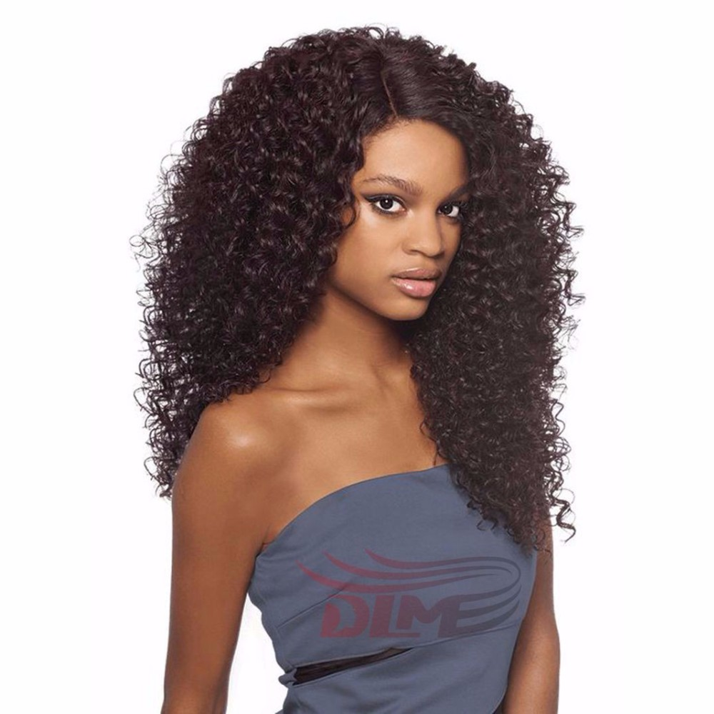 Virgin Kinky Curly Wigs Malaysian Unprocessed Human Hair Long Bouncy Kinky Curly Full Lace Wigs Full Head Baby Hair Front Lace