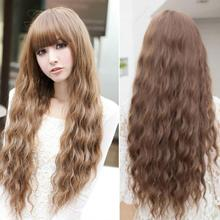 Fashion Womens Lady Long Curly Wavy Hair Full Wigs Cosplay Party Heat Resistant 4 Color(China (Mainland))