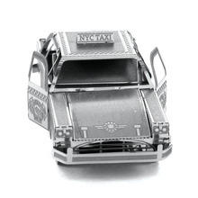 Checker Cab 3D Metal Puzzle DIY Assembly New York Taxi Toys Brain Game Educational Kids Toys IQ Jigsaw Puzzle(China (Mainland))