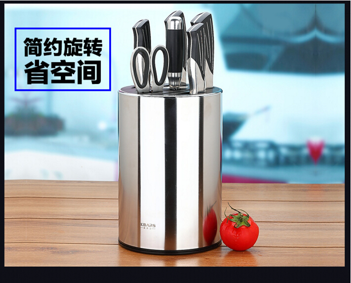 High quality stainless steel material easy to clean kitchen knives holder knife blocks and roll kitchen products accessories(China (Mainland))