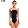 Riseado 2016 Brand Swimwear Women One Piece Swimsuit Sexy Sports Swimsuit Backless Swim Bathing Suits