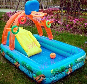 kids water park, PVC pool,family pool,water park with slide, toss, ring, air ball(China (Mainland))