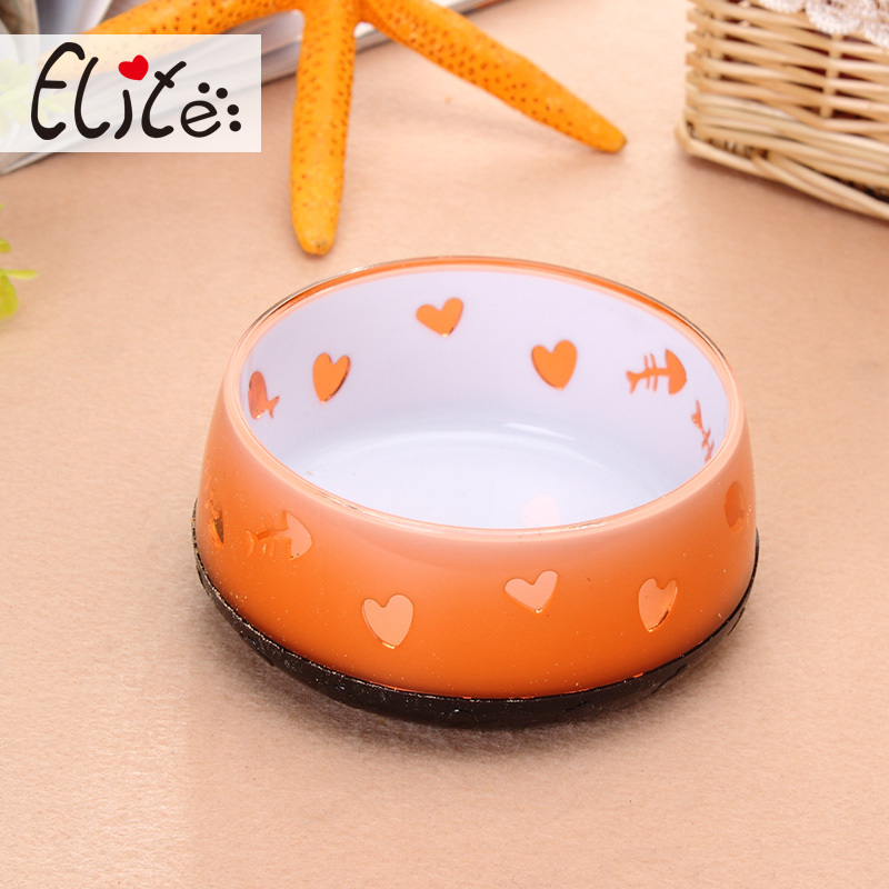 Acrylic cat bowls New Material non-slip colorful pet bowls high quality beautiful cat bowls(China (Mainland))