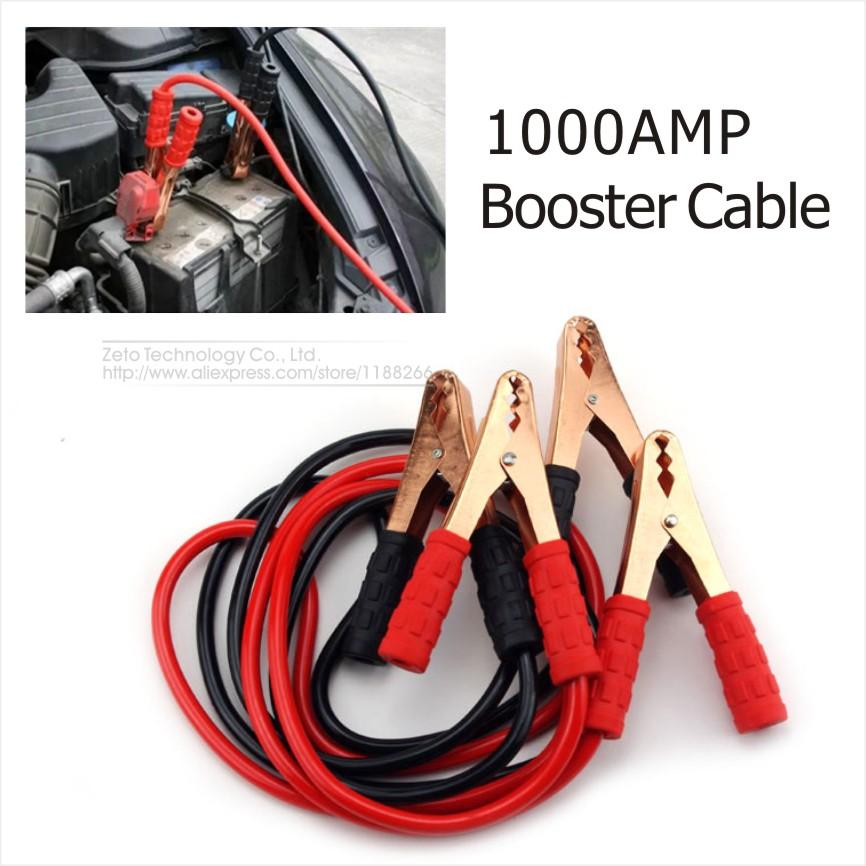 1000A Car Booster Cable 2Meters 1000 Ampere Car Starting Jumper Cable Emergency Battery Booster Cables Jumpers Car Styling(China (Mainland))