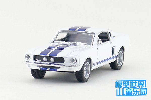1PC 13cm Wisdom crown 1967 ford mustang GT GT500 cobra alloy car models gifts(China (Mainland))