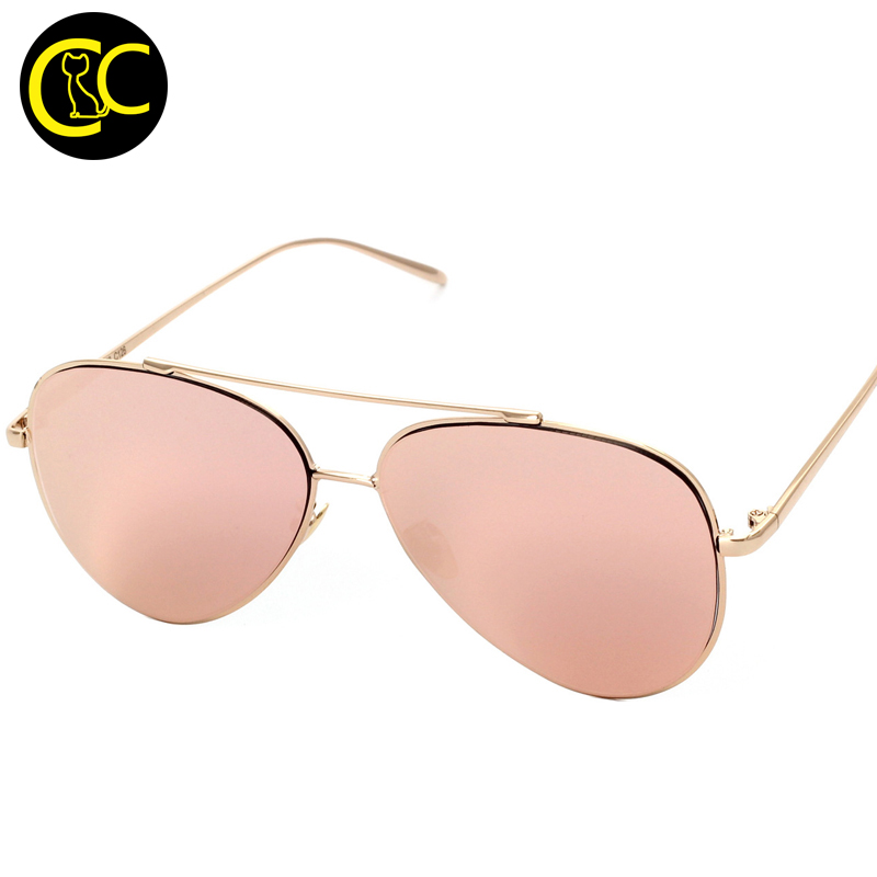 Luxury Aviation Pilot Sunglasses Women Brand Designer Pink Mirror Eyewear Brillen Woman Rose Gold Sun Glasses 2016 Shades CC0788(China (Mainland))