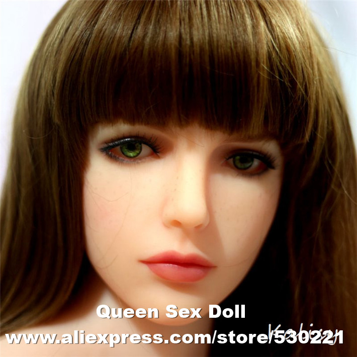2016 NEW 51# Top quality sex doll lifelike head for japanese doll, real sexy dolls silicone head, oral sex products(China (Mainland))