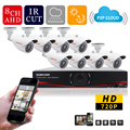 SUNCHAN AHD 1280 720P HDMI DVR 8CH Channel 8pcs 1 0MP IR Bullet Outdoor Waterproof Security