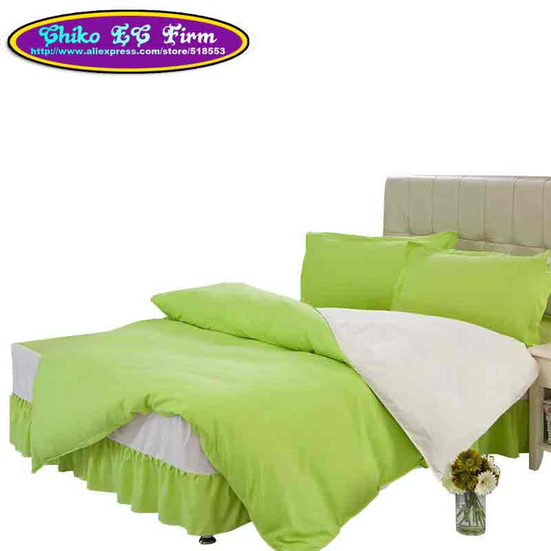 green beige solid color bedding sets couverture de lit duvet cover queen full twin size bed. Black Bedroom Furniture Sets. Home Design Ideas