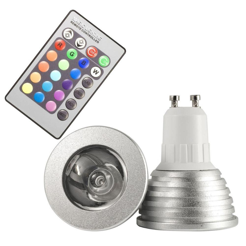 rgb bulb cob gu10 led spotlight 4w leds ac110 245v 220v bulbs 24 keys ir. Black Bedroom Furniture Sets. Home Design Ideas