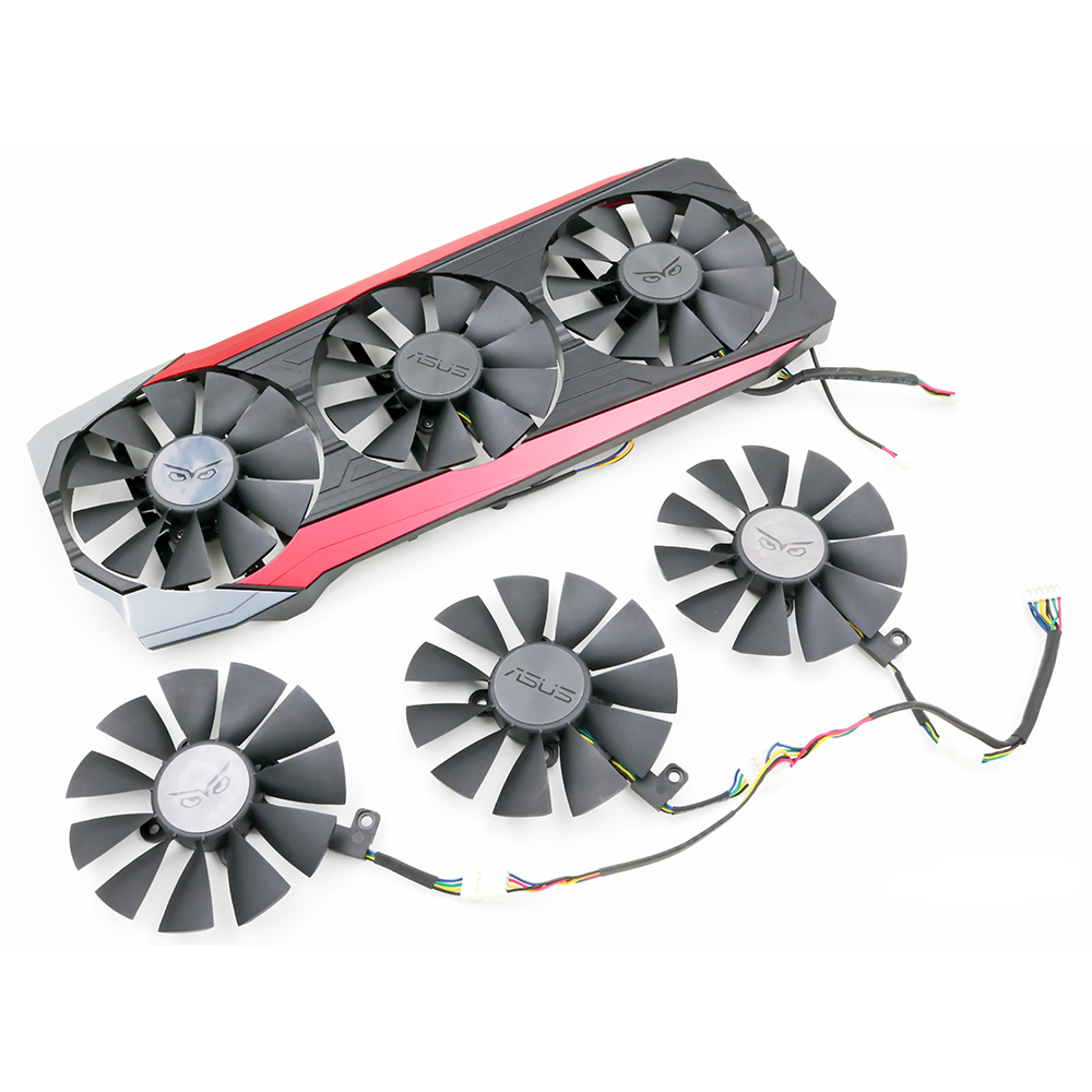 New Original everflow 88MM T129215SU Replacement ASUS strix Raptor GTX980Ti R9 390X R9 390 RX 480Graphics Video Card Fan
