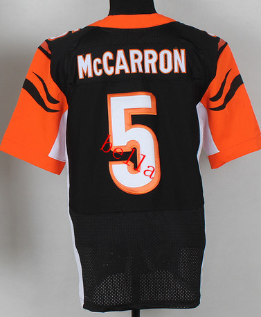 Free Shipping Cincinnati #5 AJ Mccarron Black Orange Elite jerseys American Football Jersey (all number and name is stitched )(China (Mainland))