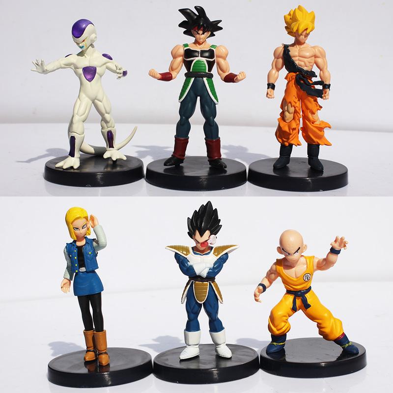 "Гаджет  Dragon Ball Z 1Set 1Set=6pcs 5"" Songukou Gogeta Gotenks Action Figure toy Free Shipping  None Игрушки и Хобби"