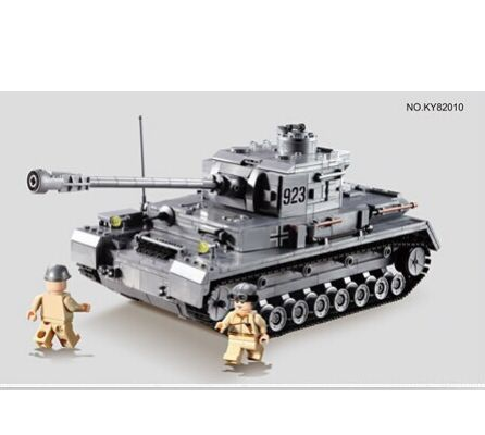 New 82010 Century German Armored Military Tank Cannon Model Type F2 Troops Panzer Kampf Wagen IV Enlighten Building Blocks Toys(China (Mainland))