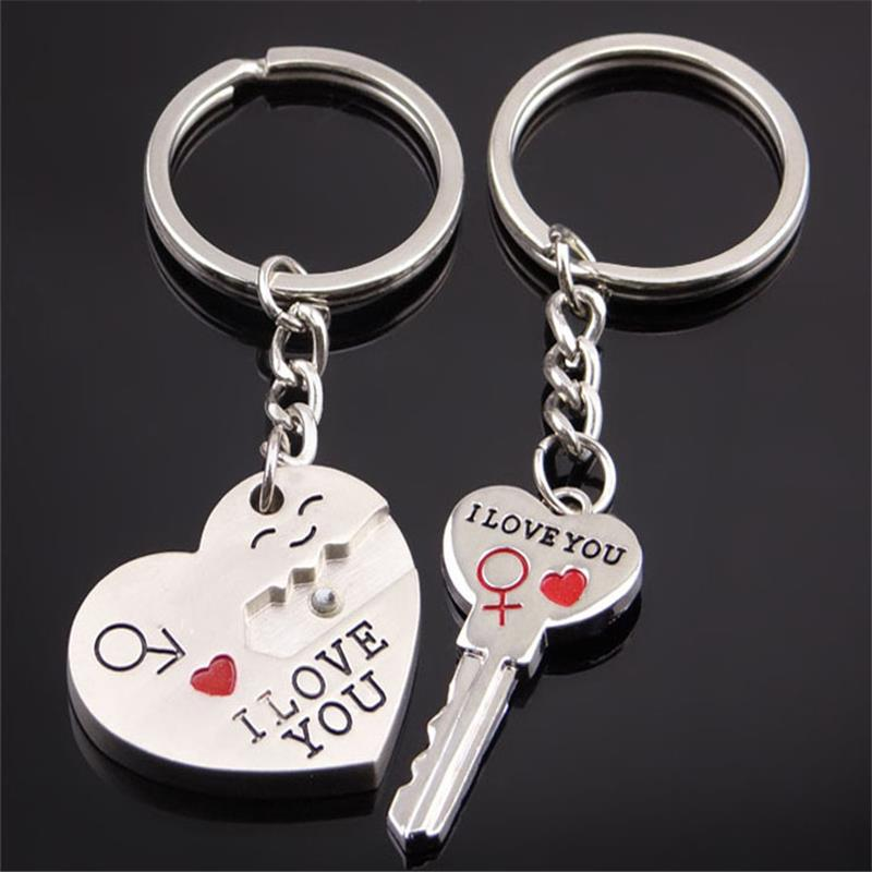 1Pair Key to My Heart Keychain Wedding gifts for guests Favors And Gifts Wedding Souvenirs Supplies Obsequios Boda(China (Mainland))