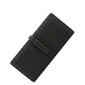 High Quality Knitting Purse Women Fashion Large Capacity Bi fold Long Wallet Designer Woven Pattern Buckle