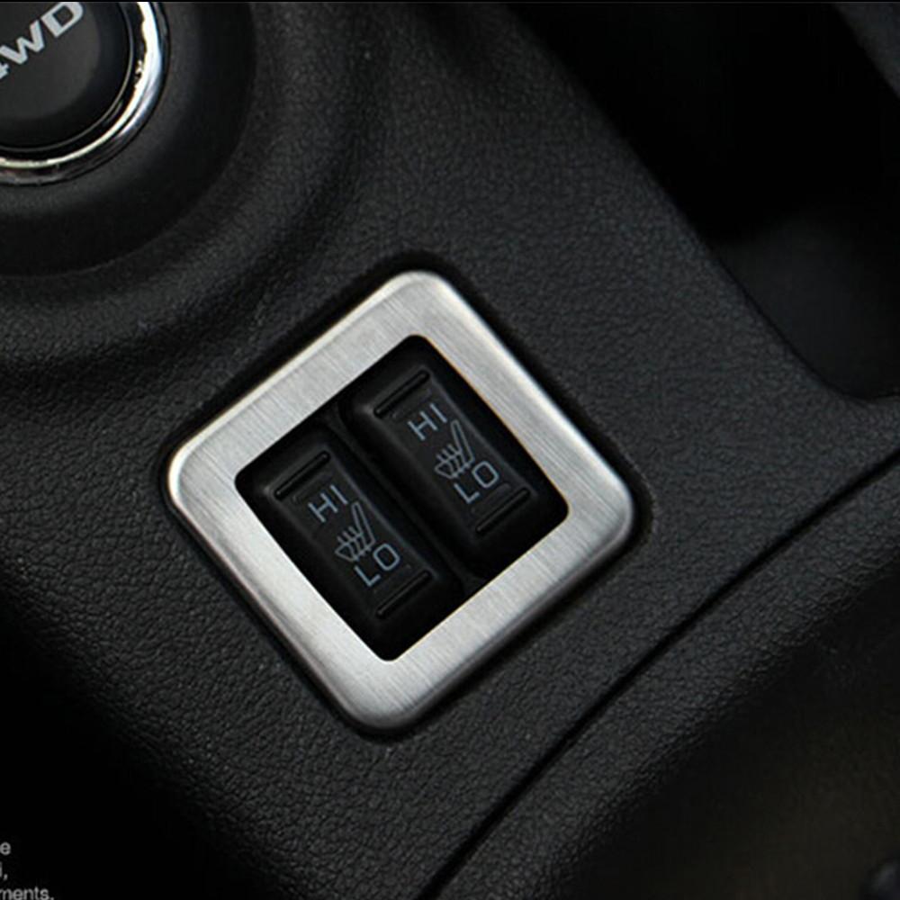for mitsubishi outlander 2013 2014 car interior seat heating button decorative frame. Black Bedroom Furniture Sets. Home Design Ideas