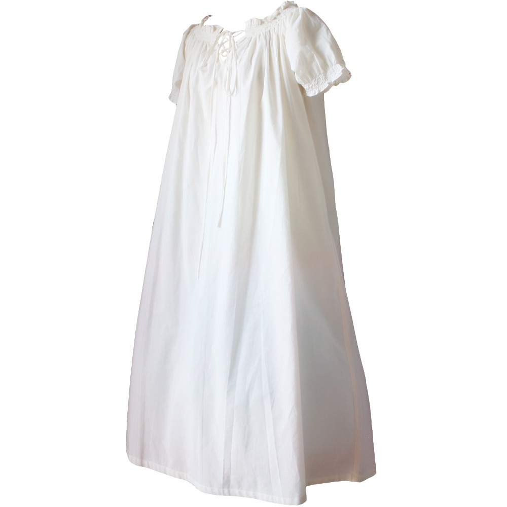 Sweet Lolita Cotton European medieval Vintage Style Short Sleeves Dress Nightgown for Girls\Women Cosplay Costumes
