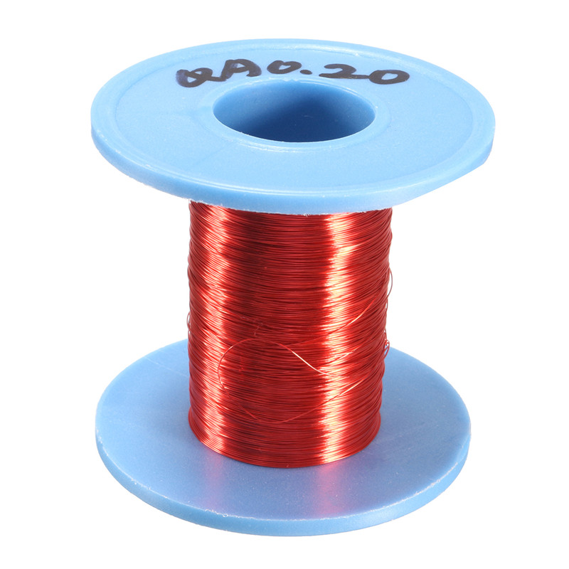 Newest 100m Red Magnet Wire Enameled Copper Wire Roll Magnetic Round Coil 0.2mm Dia Favorable Price(China (Mainland))
