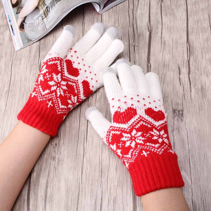 6~12 Women/'s Girl Snowflake Warm Knit Knitted Magic Winter Gloves Stretch Lots