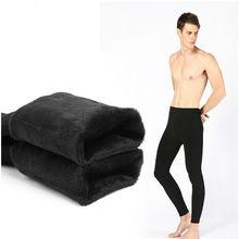 Free Shipping winter  Warm Men plus cashmere leggings Leggings Tight Men Long Johns Plus Size  Warm Underwear Man thermal pants(China (Mainland))