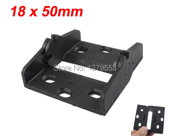 Black Drag Chain Cable Carrier 18 x 50mm Connector Adapter(China (Mainland))