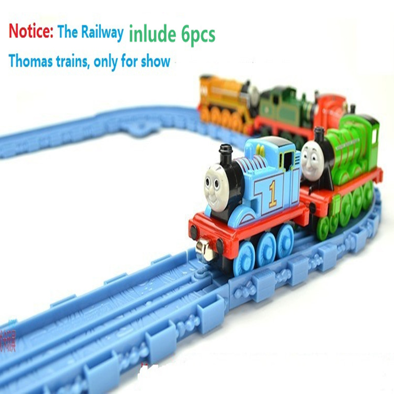 Free Shipping---6 pcs Thomas Trains with12pcs Train tracks,Railways,Metal Trains model for toys(Hong Kong)