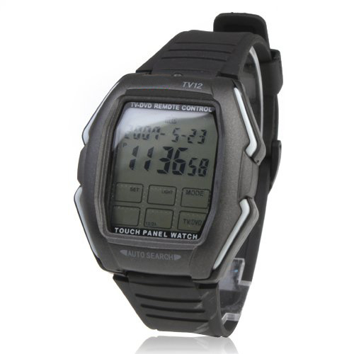 Touch Screen TV/DVD/VCR Remote Controlled Wrist Watch (Black)<br><br>Aliexpress