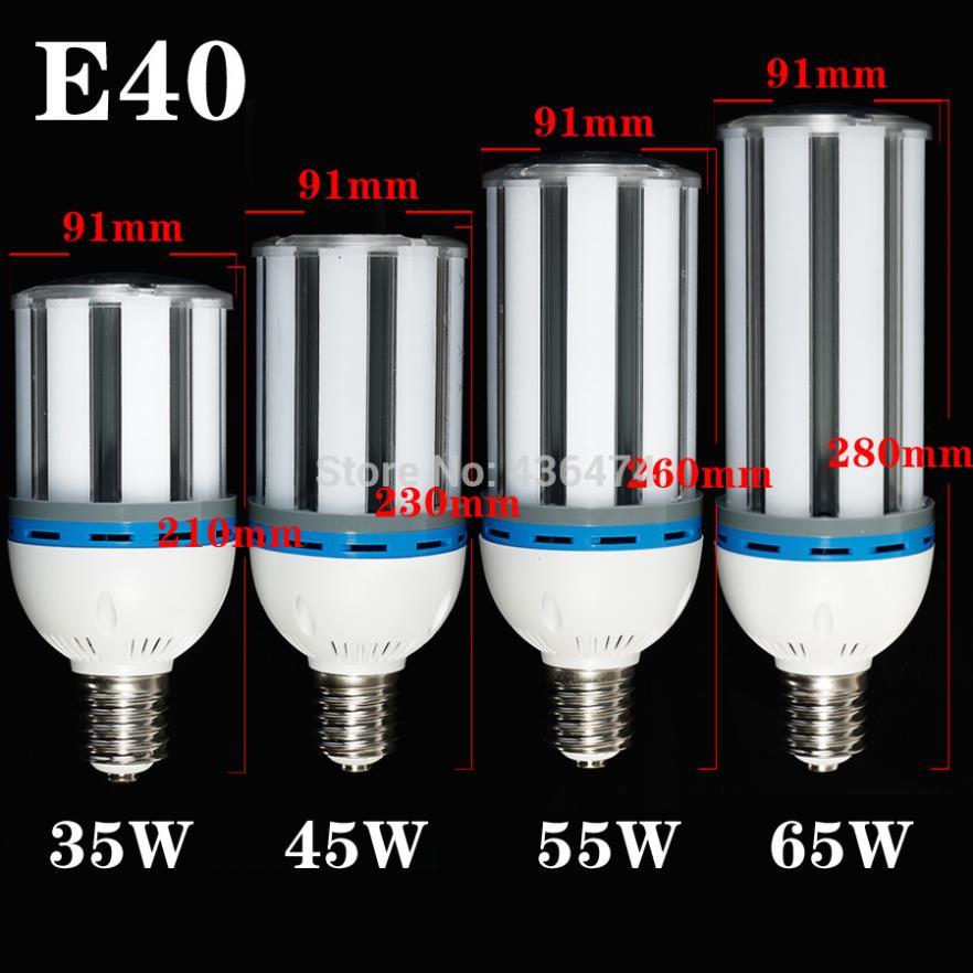 2 pcs lot E40 30W 40W 50W 60W LED Light Bulb Lamp 85-265V Cylinde Horizontal Plug Lamp SMD5730 LED Corn Light Bulbs(China (Mainland))
