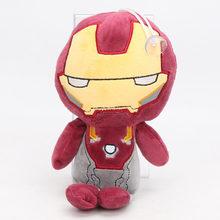 Endgame 22-26 centímetros Marvel Avengers Brinquedos de Pelúcia Brinquedo Homem De Ferro Thanos Deadpool Spiderman Macio Stuffed Bonecos de Super Herois presente de aniversário(China)