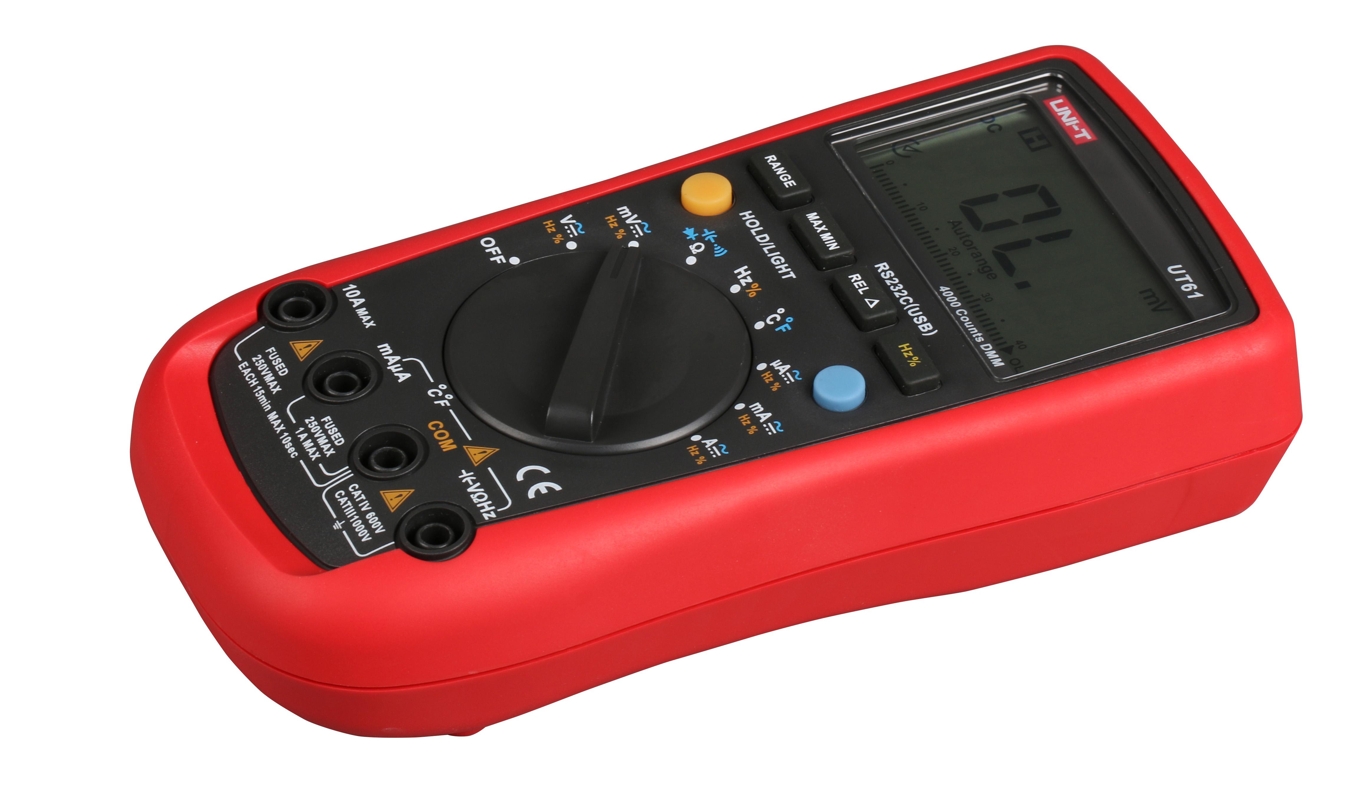 Anti-burn digital multimeter UT61DE universal meter capacitance Excellent<br>