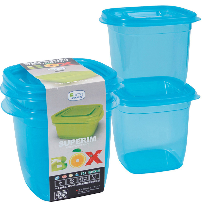 2 Pieces 2000ml Stackable Kitchen Food Storage Boxes Set Bento Lunch Box Plastic Storage Containers with Lids Coffee Container(China (Mainland))