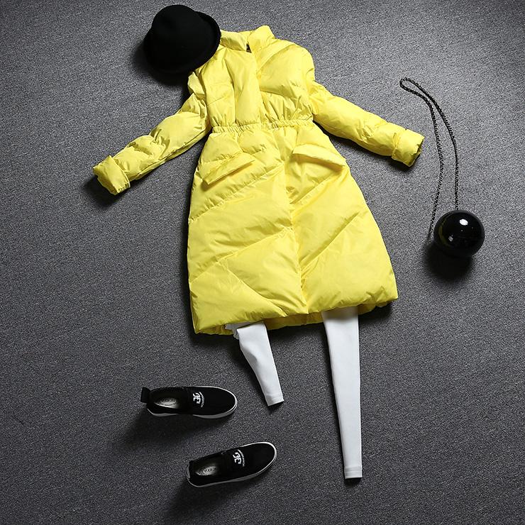 Hot Sale Women Winter Fur Collar Down Jacket Long Thick Down Coat Winterjas Dames Warm Female Jacket Abrigos Mujer Free Shipping(China (Mainland))