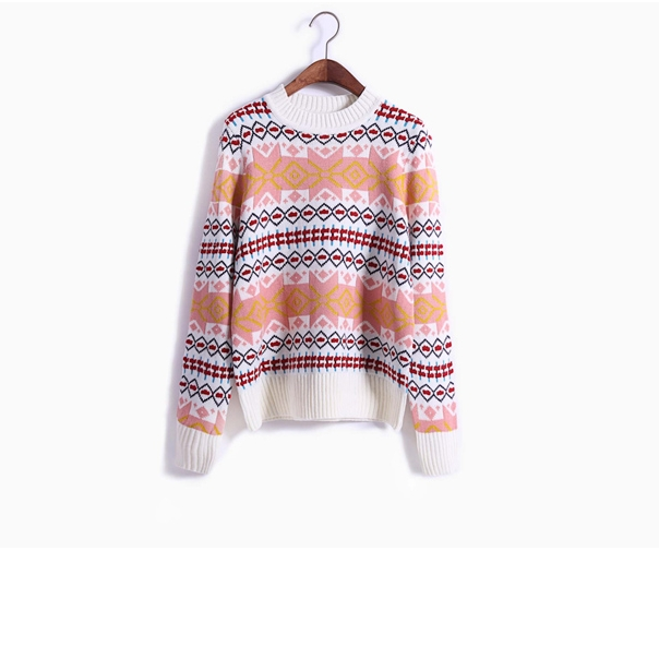 Harajuku Cropped Korean christmas sweater women retro Quilted diamond pattern warm knit women sweaters and pullovers(China (Mainland))