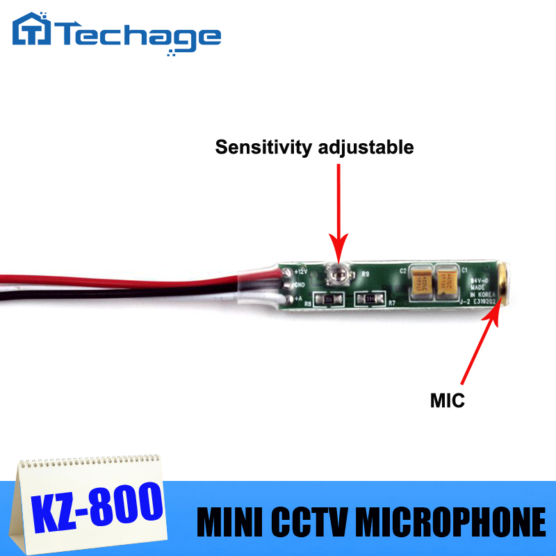 Audio pick up CCTV Microphone mini Mic Adjustable sensitivity low noise for CCTV Camera system(China (Mainland))