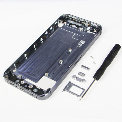 Part Middle Frame/Hard Metal Back Battery Housing Door Case For Iphone 5S +Tool(China (Mainland))