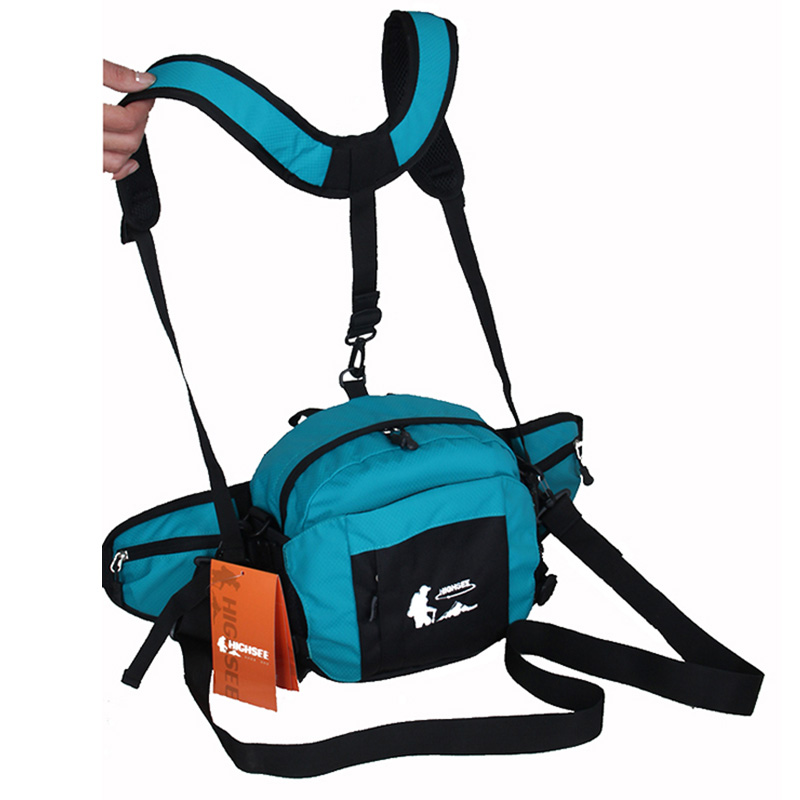 HIGHSEE Unisex Outdoor Travel Fishing Climbing Hiking Mountaineer Cycling Multifunction Chest Pack Waist Bags 6 Color(China (Mainland))