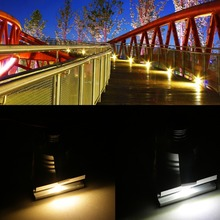 Popular New 1W LED Indoor Square Walkway Step Stair Wall Corner Light Lamp Bulb 85-265V(China (Mainland))
