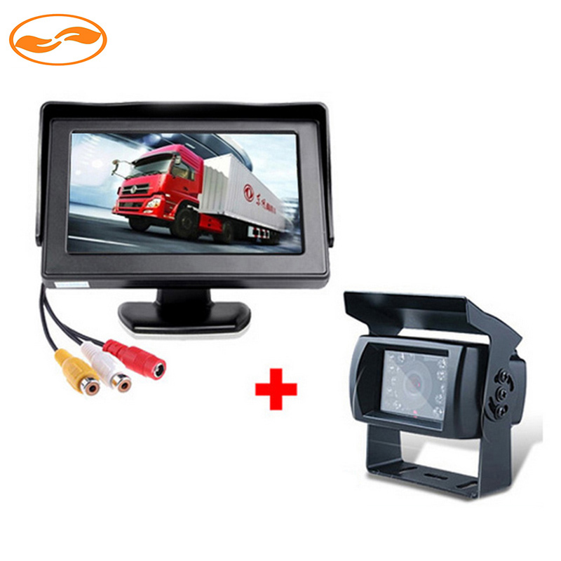"""DC 24V Truck Bus Parking Monitor Camera System 4.3"""" Car Monitor With Rear View Camera 15M RCA Video Cable(China (Mainland))"""