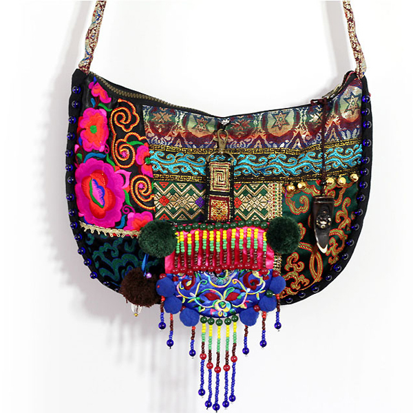 2015 New design shoulder bag women Indian style canvas bright colored embroidery bags brilhantes sacos coloridos(China (Mainland))