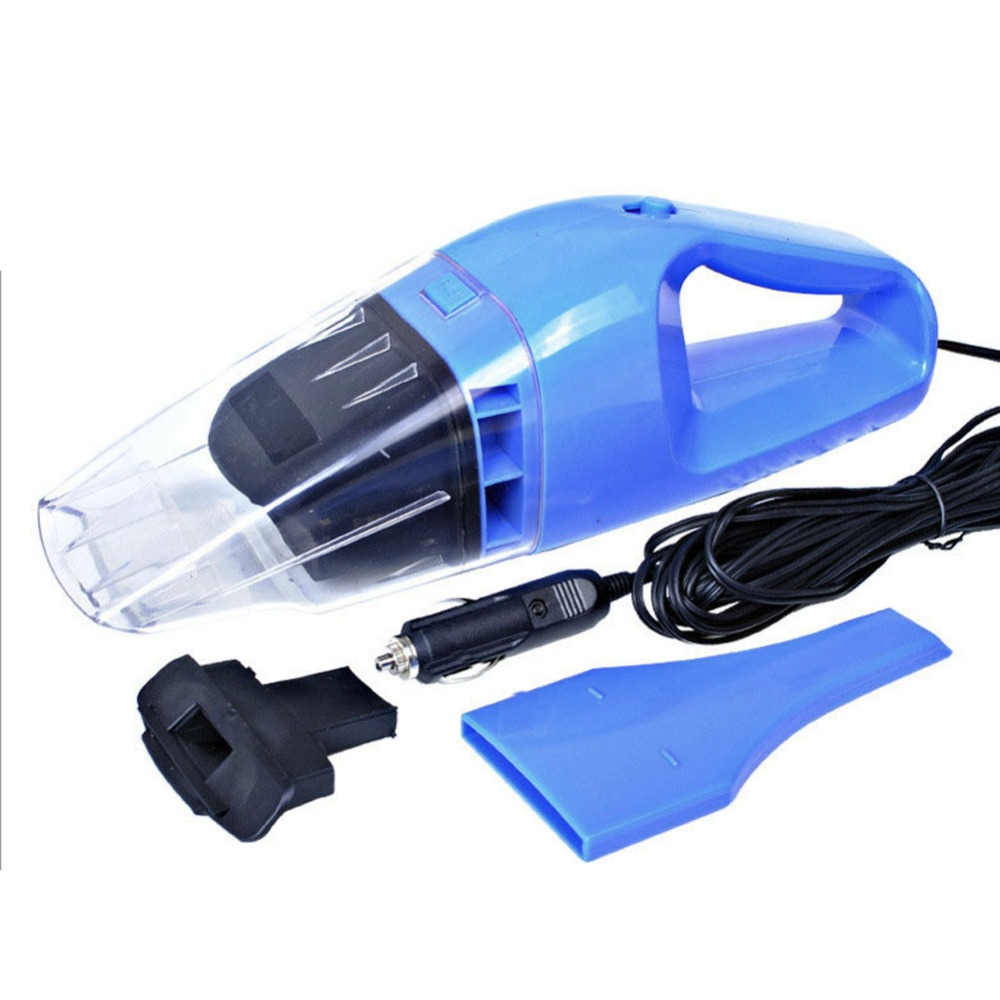 Newest 12V 100W 4.5m Portable Vacuum Wet&Dry Dust Vacuum Cleaner Outdoor Mini Use Vaccum Cleaner For Car Blue Free Shipping(China (Mainland))