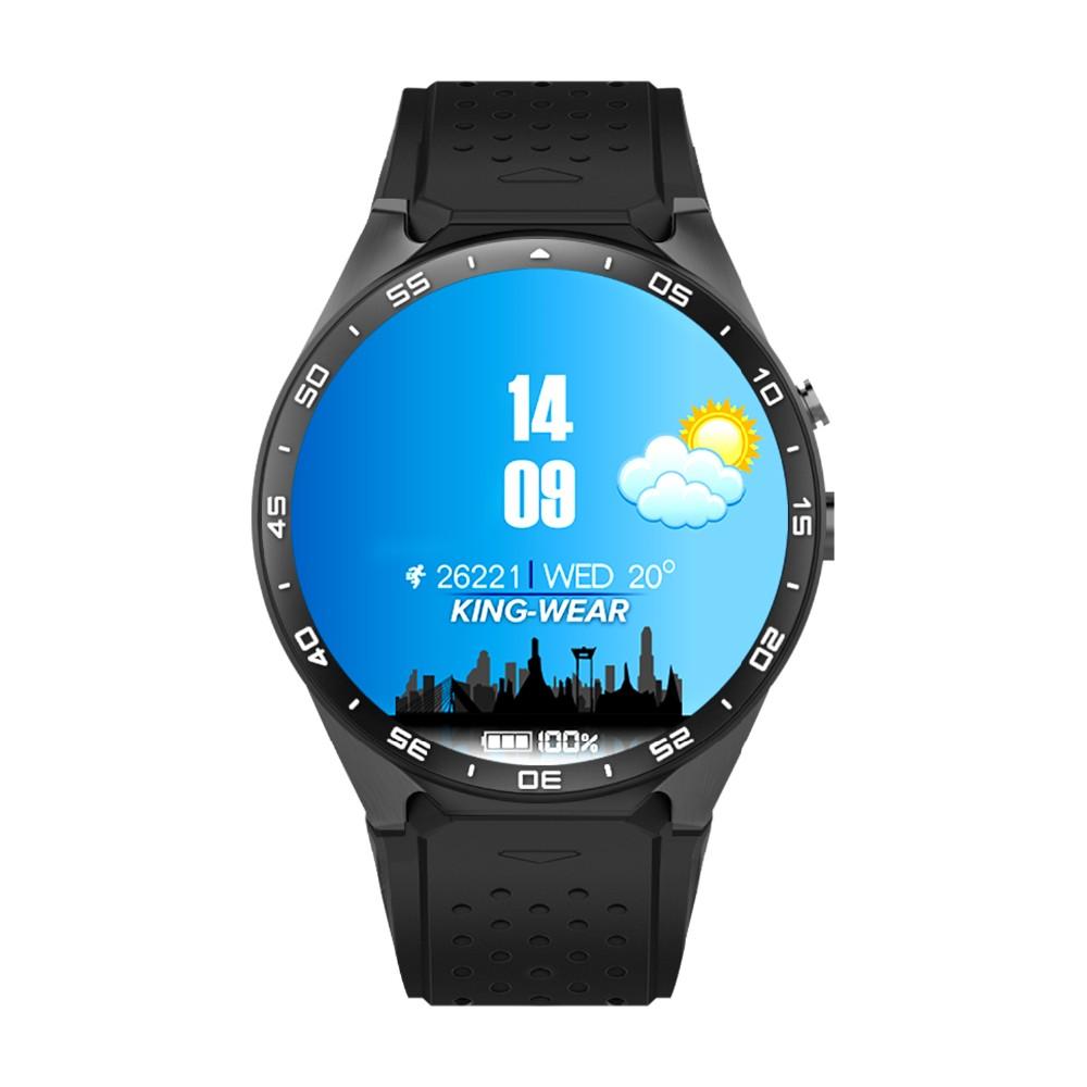 ถูก 2016 kw88 android 5.1 smart watchโทรศัพท์mtk6580 quad core 1.3กิกะเฮิร์ตซ์รอม4กิกะไบต์+ RAM 512เมกะไบต์1.39นิ้ว400*400หน้าจอที่มี2.0MPกล้อง