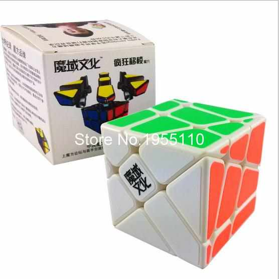 Moyu Crazy YiLeng Fisher Cube black/white Magic Cube Speed Puzzle Cubes Educational Toy Special Toys(China (Mainland))