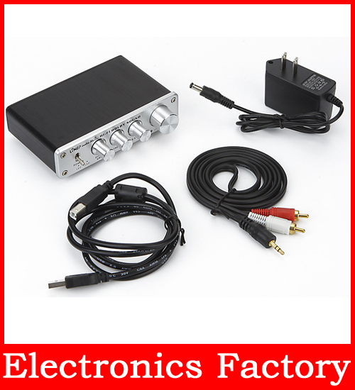 Surround 3d Hifi Sound Audio Processor Usb Decoding Dac Independent Amp Sound Controller For Car Tv PC Speaker Phone Dvd Cd(China (Mainland))