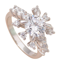 design Gorgeous ! really Shining 18k white gold plated Fashion Jewelry Crystal Rings USA sz #5.5#6.75 JR1751A - Jos fan's store