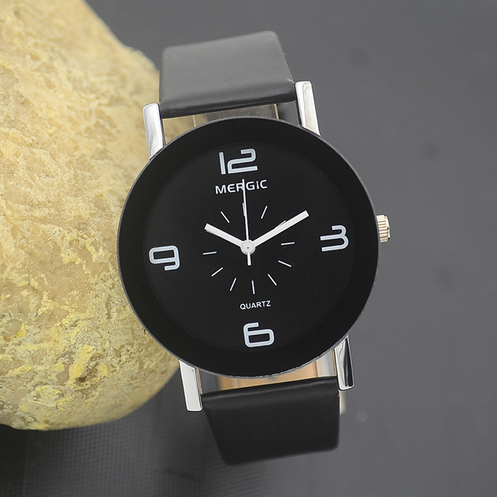 buy black and white arabic men unisex fashion watch women dress caual gift lady. Black Bedroom Furniture Sets. Home Design Ideas